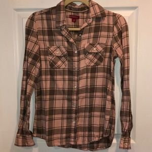Merona Pink Flannel Top